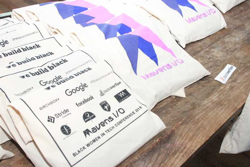 Mavens I/O Black Women in Tech Conference Swag bags